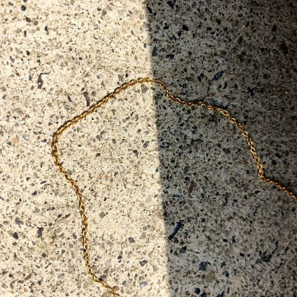 【 r 】アール<br /> gold chain necklace  medium