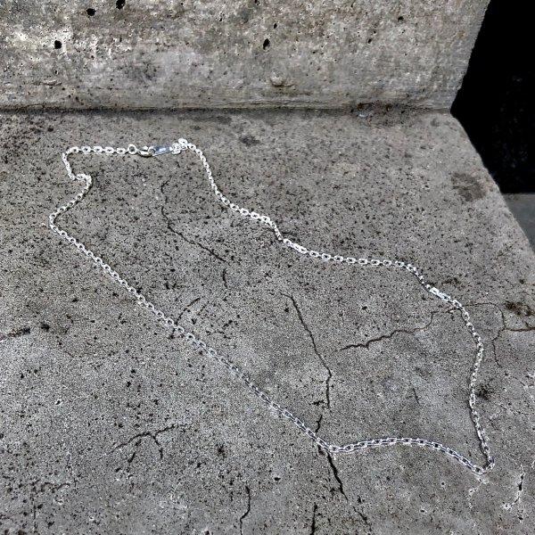 【 r 】アール<br /> silver chain necklace  medium