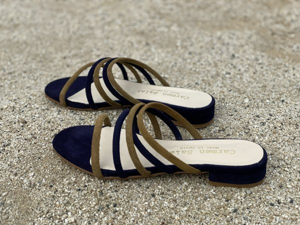 SALE<br>50%OFF【 calmensalas】カルメンサラス<br />suede color scheme sandal