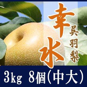 幸水3kg/(中大)8個玉【家庭・贈答用】