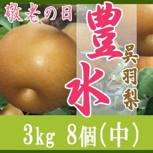 【敬老の日企画】豊水3kg/(中)8個玉