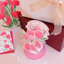 母の日 フラワーポットカード  ピンク