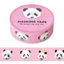 パンダマスキングテープ ピンク