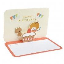 【おひとり様2点まで】mizutama バースデーポップアップミニカード ケーキ.