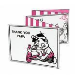 サンキューパパカード(ピンク)