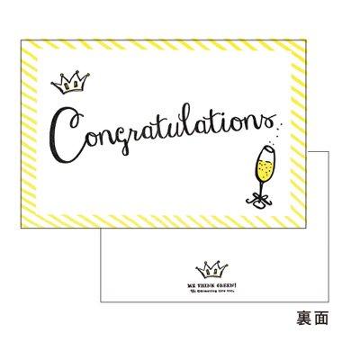 コットンレタープレスカード congratulations paper mint online shop