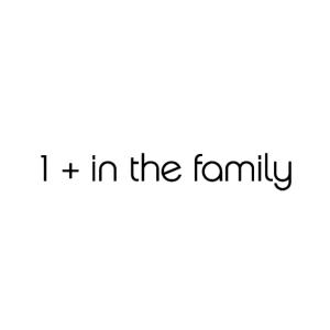 1 + in the family logo