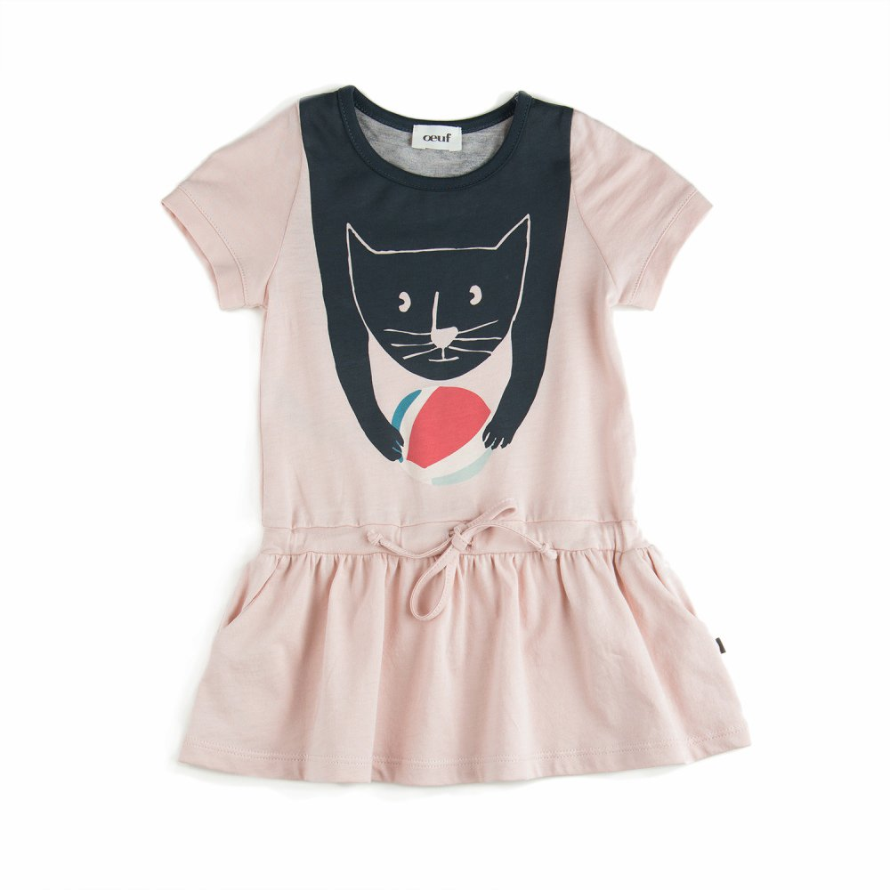 【MORE SALE 50%OFF】JURSEY DRESS CAT PINK img