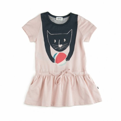 【MORE SALE 50%OFF】JURSEY DRESS CAT PINK