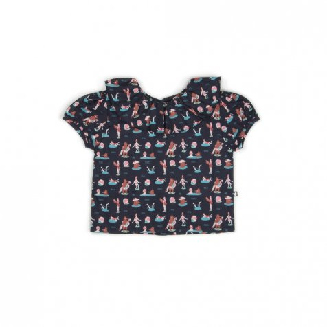 【サマーセール30%OFF】RUFFLE COLLAR BLOUSE BEAR