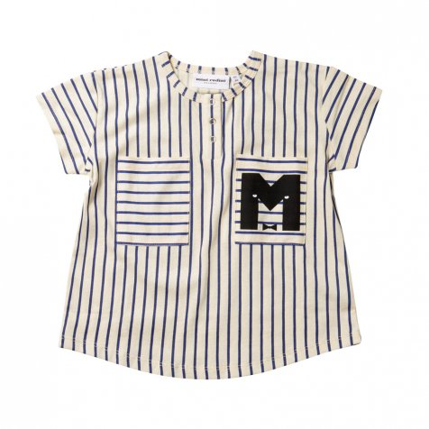 【サマーセール30%OFF】STRIPE BASEBALL TEE BLUE