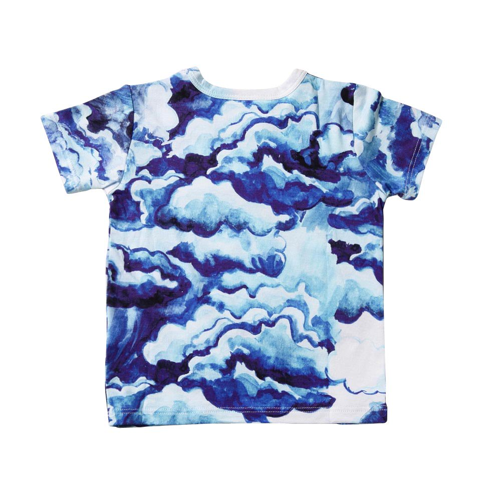 【SALE 30%OFF】CLOUDS AOP SS TEE DARK BLUE img2