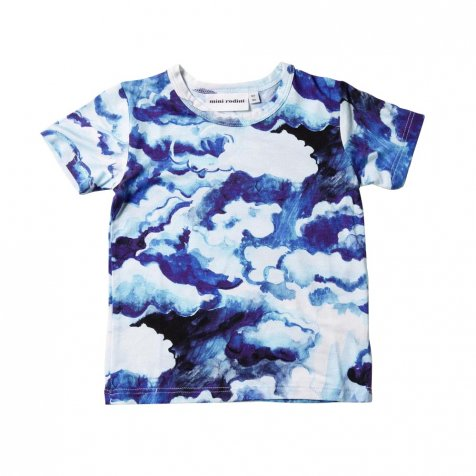 【SALE 60%OFF】CLOUDS AOP SS TEE DARK BLUE