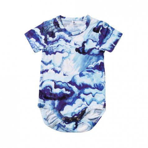 【SALE 60%OFF】CLOUDS AOP SS BODY DARK BLUE