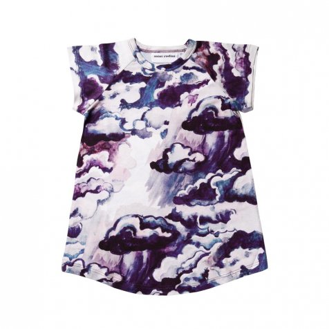 【サマーセール30%OFF】CLOUDS AOP RAGLAN DRESS PURPLE