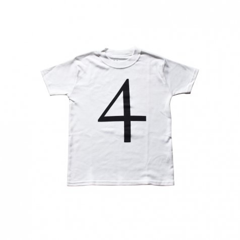The Wonder Years Number T-shirt SS White No.4