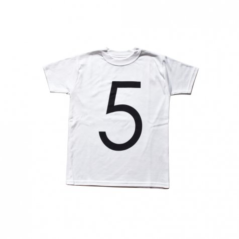 The Wonder Years Number T-shirt SS White No.5