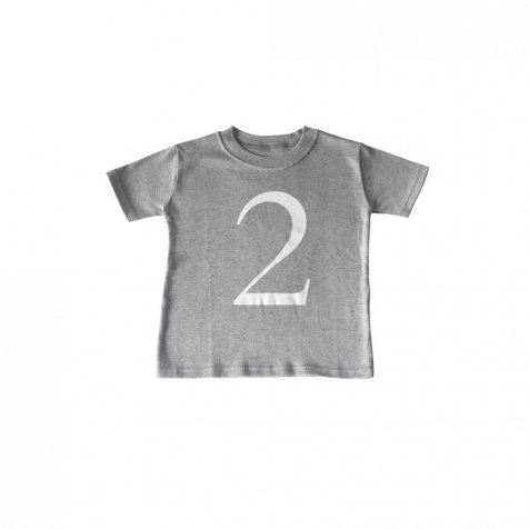 The Wonder Years Number T-shirt SS Grey No.2