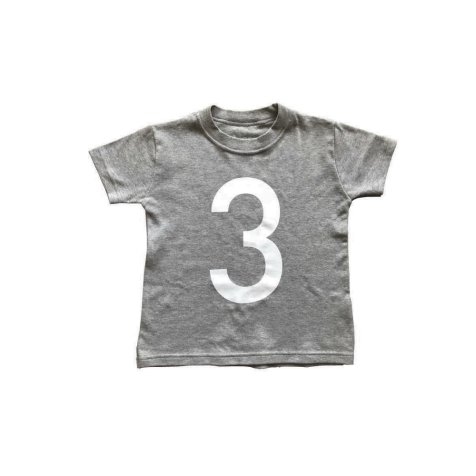 The Wonder Years Number T-shirt SS Grey No.3
