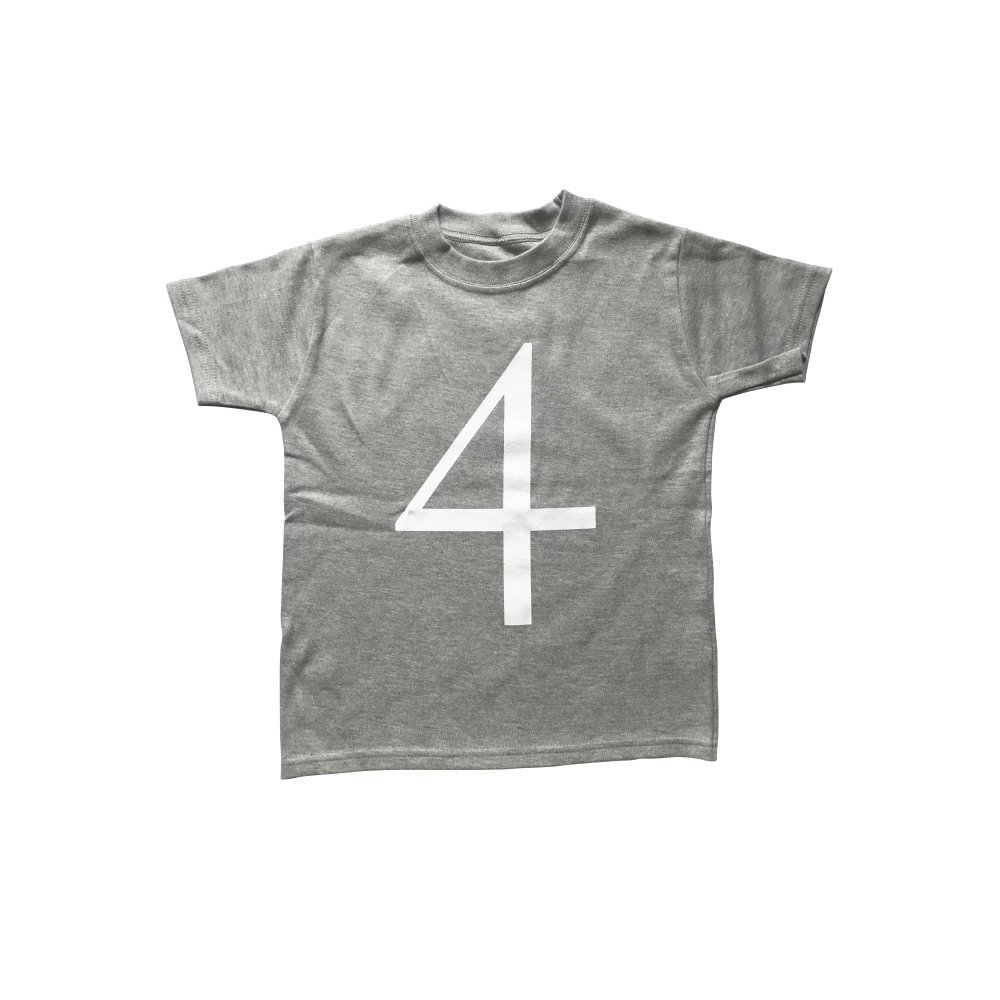 The Wonder Years Number T-shirt SS Grey No.4 img