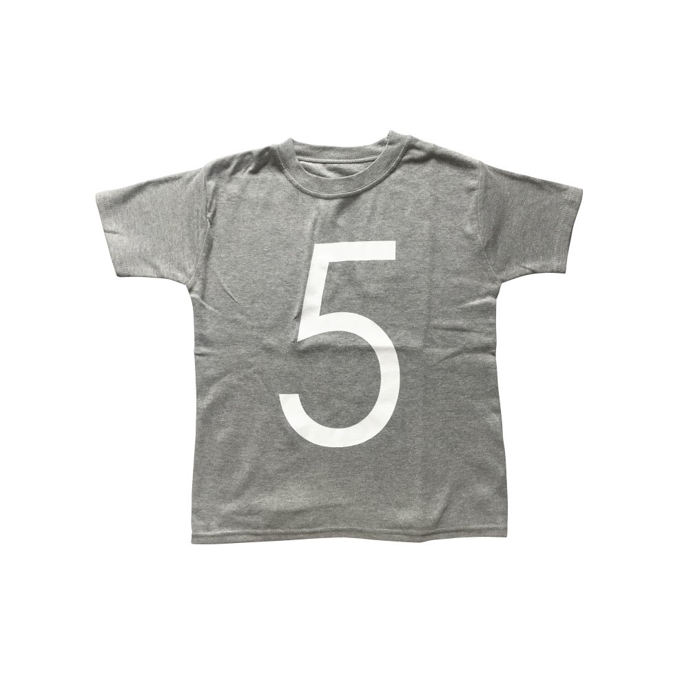 The Wonder Years Number T-shirt SS Grey No.5 img
