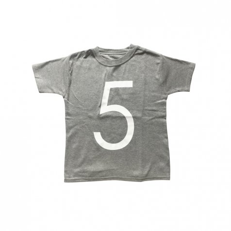 The Wonder Years Number T-shirt SS Grey No.5