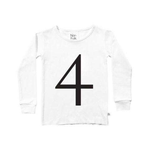 The Wonder Years collection LS White Tee No.4