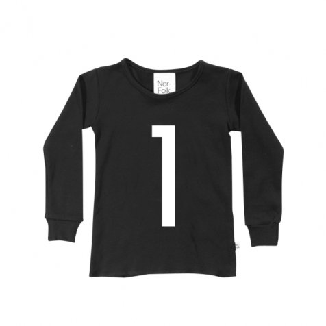 The Wonder Years collection LS Black Tee No.1