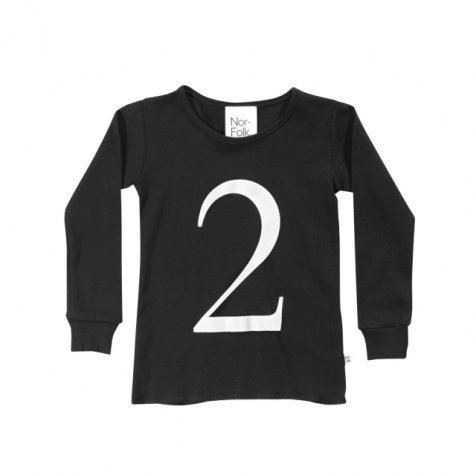The Wonder Years collection LS Black Tee No.2