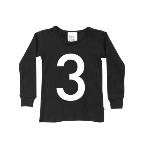 The Wonder Years collection LS Black Tee No.3