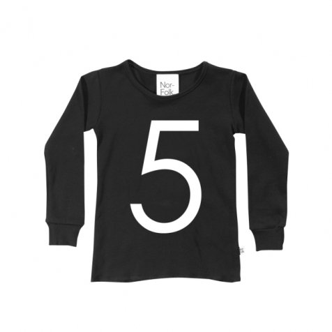 The Wonder Years collection LS Black Tee No.5