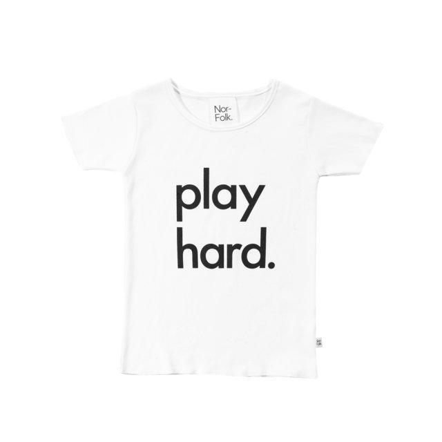 【40%OFF】Play Hard Tee White img