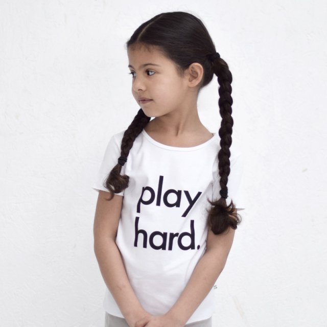【40%OFF】Play Hard Tee White img2