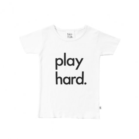 【20%OFF】Play Hard Tee White