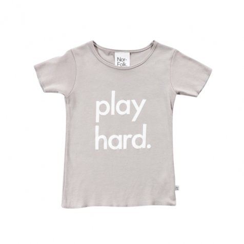 Play Hard Tee Grey