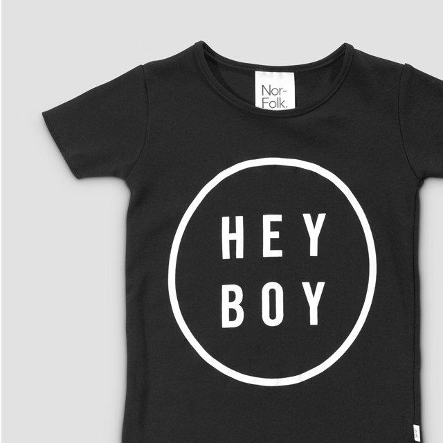 【20%OFF】Hey Boy Tee Black img1