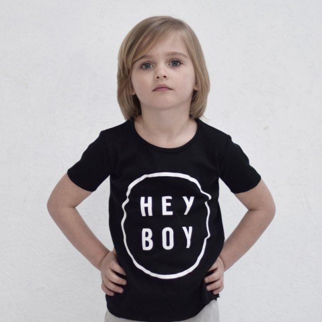 【20%OFF】Hey Boy Tee Black img2