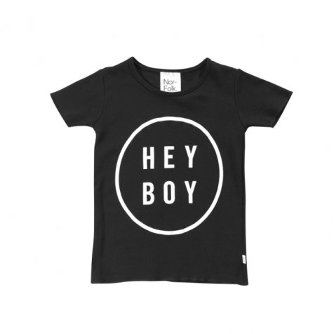 【20%OFF】Hey Boy Tee Black