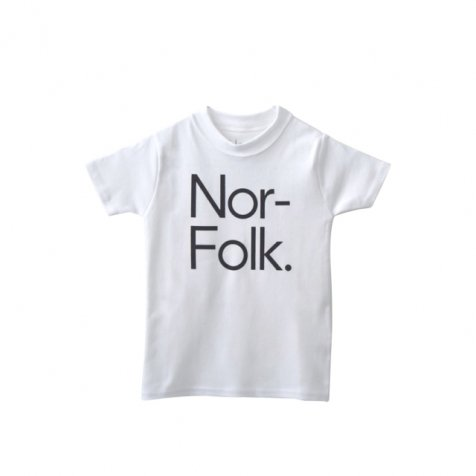 Nor-Folk basics unisex kids Tee White