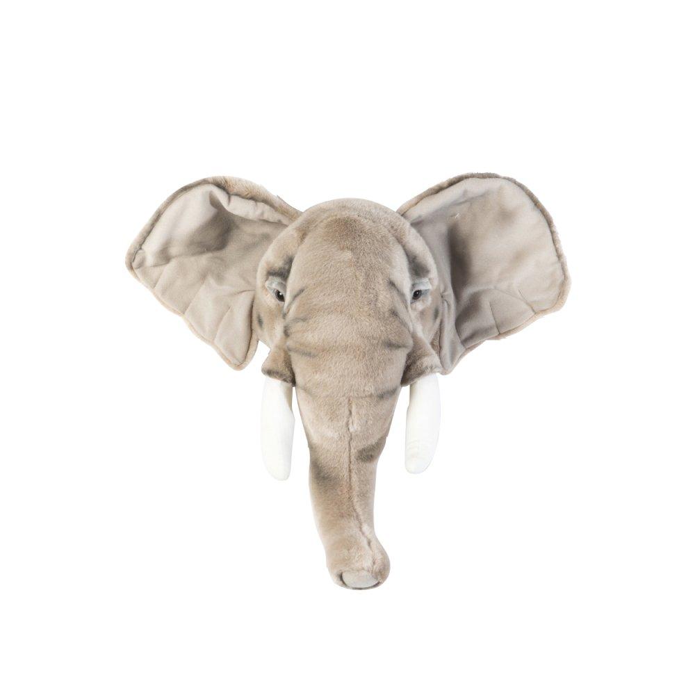 Animal Head Elephant 剥製風のぬいぐるみ・ぞう img