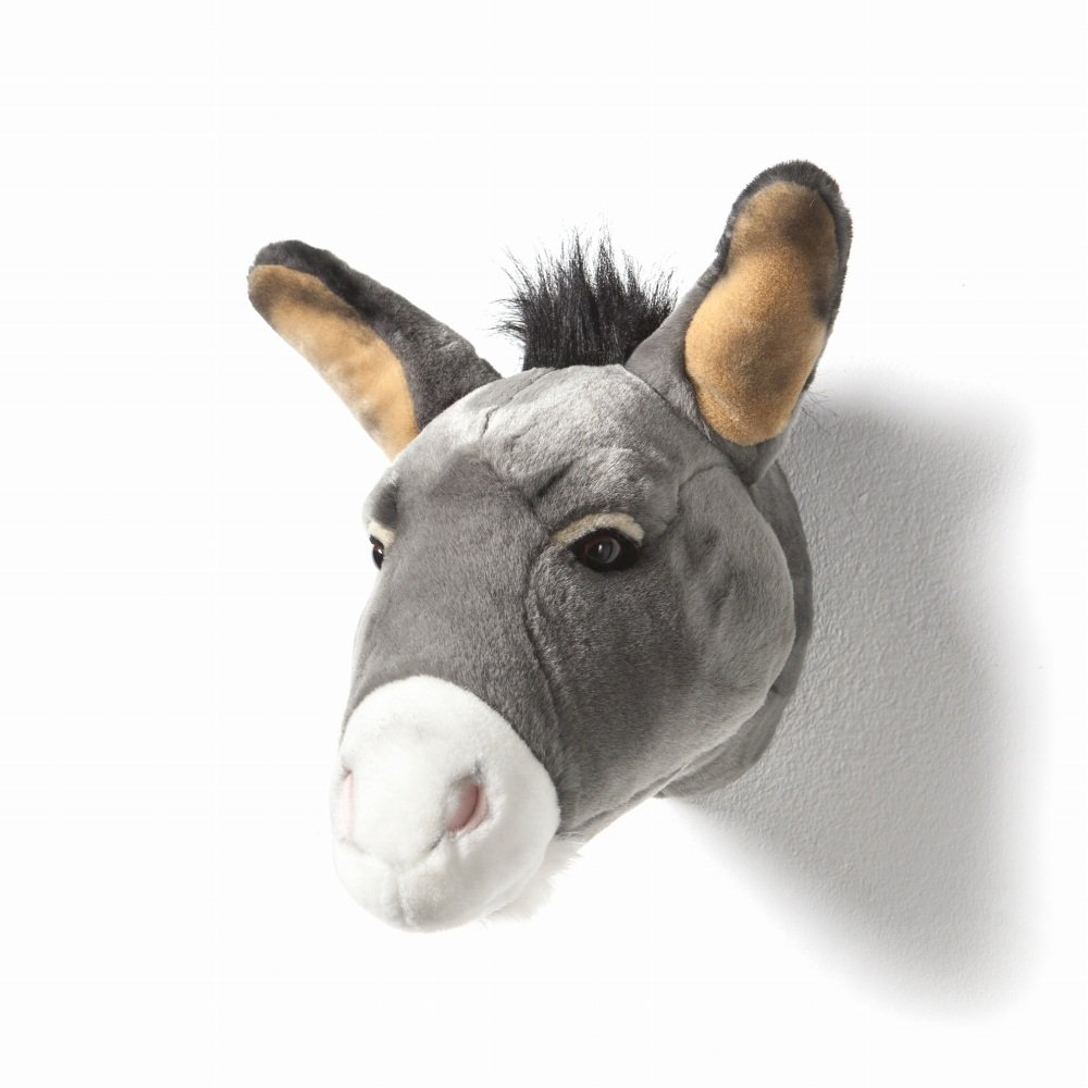 Animal Head Donkey 剥製風のぬいぐるみ・ドンキー img1