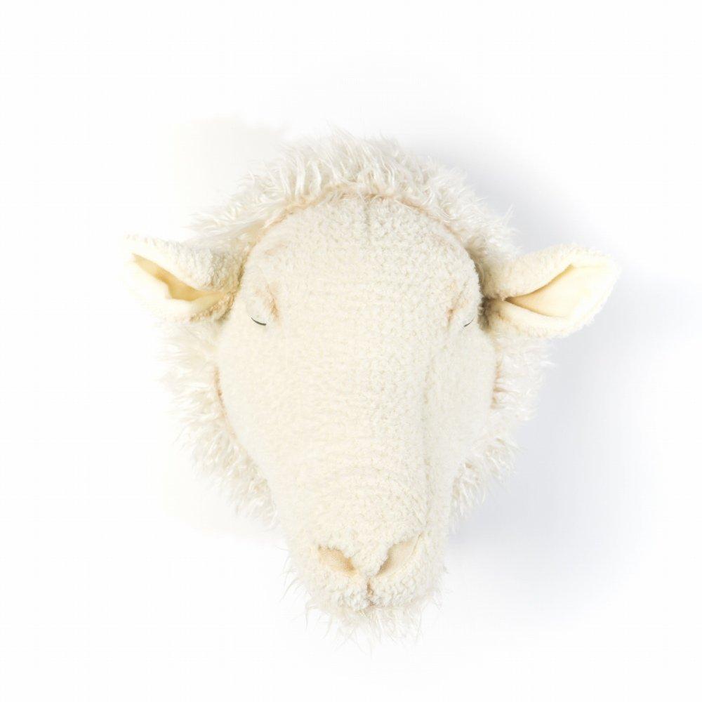 Animal Head Sheep 剥製風のぬいぐるみ・ひつじ img1