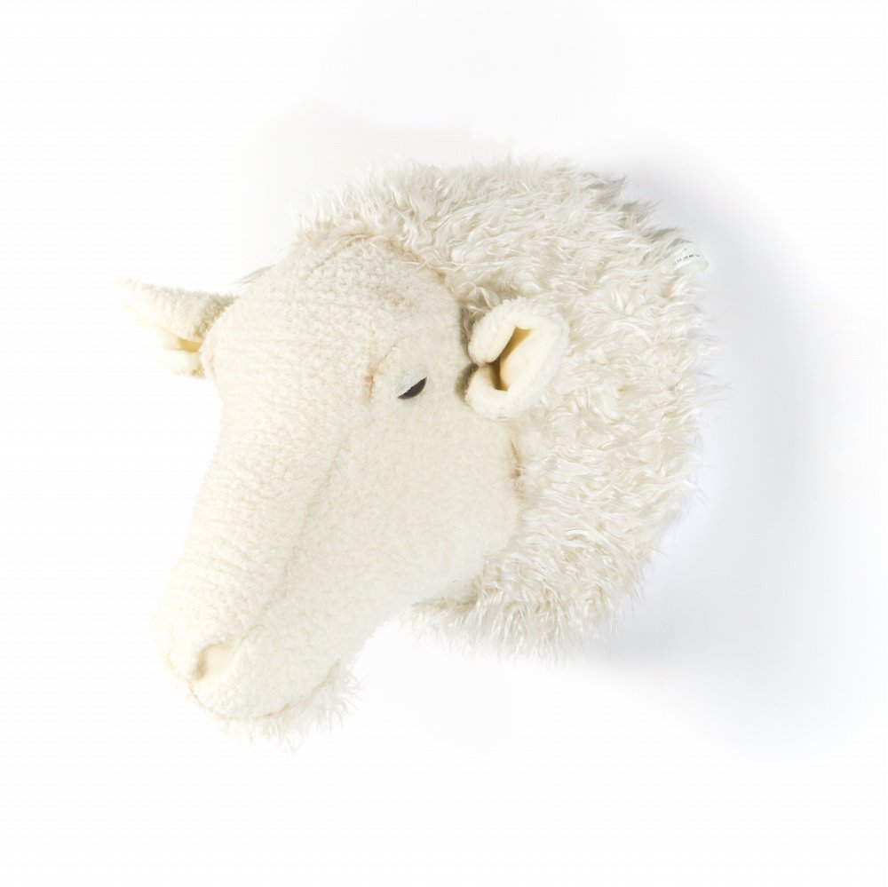 Animal Head Sheep 剥製風のぬいぐるみ・ひつじ img2