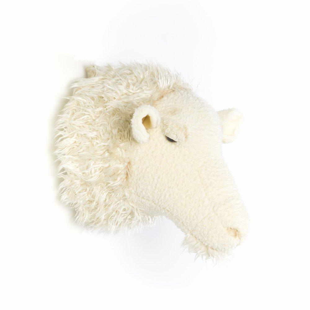 Animal Head Sheep 剥製風のぬいぐるみ・ひつじ img3