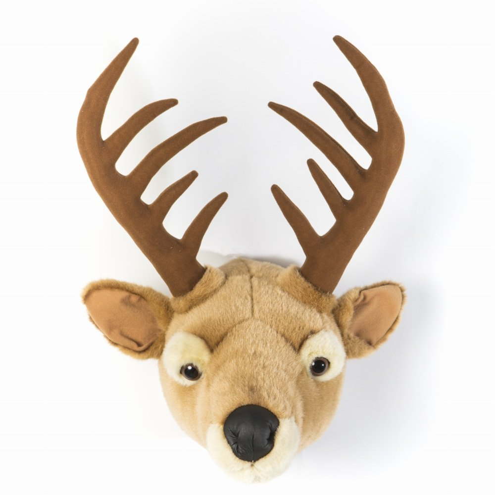 Animal Head Elk 剥製風のぬいぐるみ・トナカイ img1