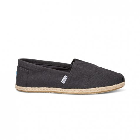 【WINTER SALE 50%OFF】SEASONAL CLASSICS Washed Black Linen Rope Sole MENS