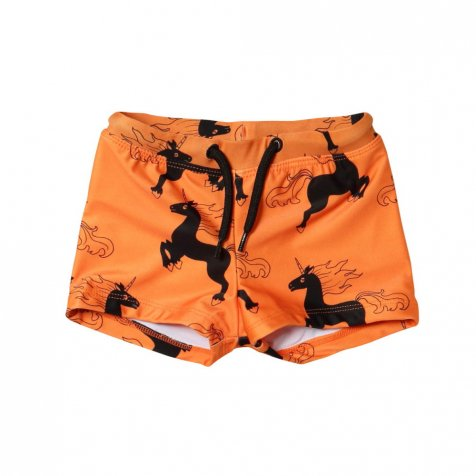 【セール40%OFF】UNICORN AOP SWIMPANTS ORANGE