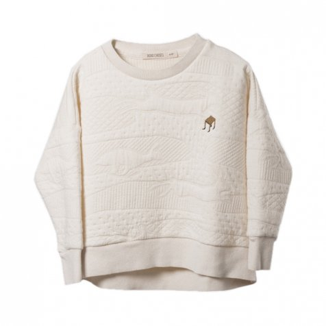【セール30%OFF】2016AW No.055 Jumping Rabbit Sweatshirt Cream