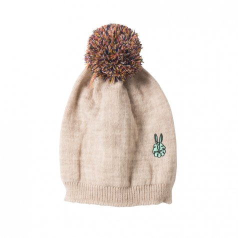 【セール30%OFF】2016AW No.095 Knitted Beanie Cream Embr. Bunny