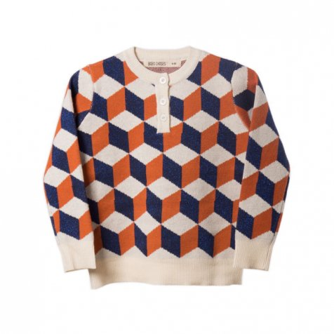 【セール30%OFF】2016AW No.114 Op Art Knitted Jumper Blue